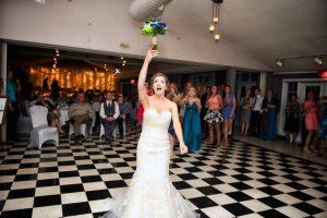 Wedding Bouquet Toss Captured by KS Studios